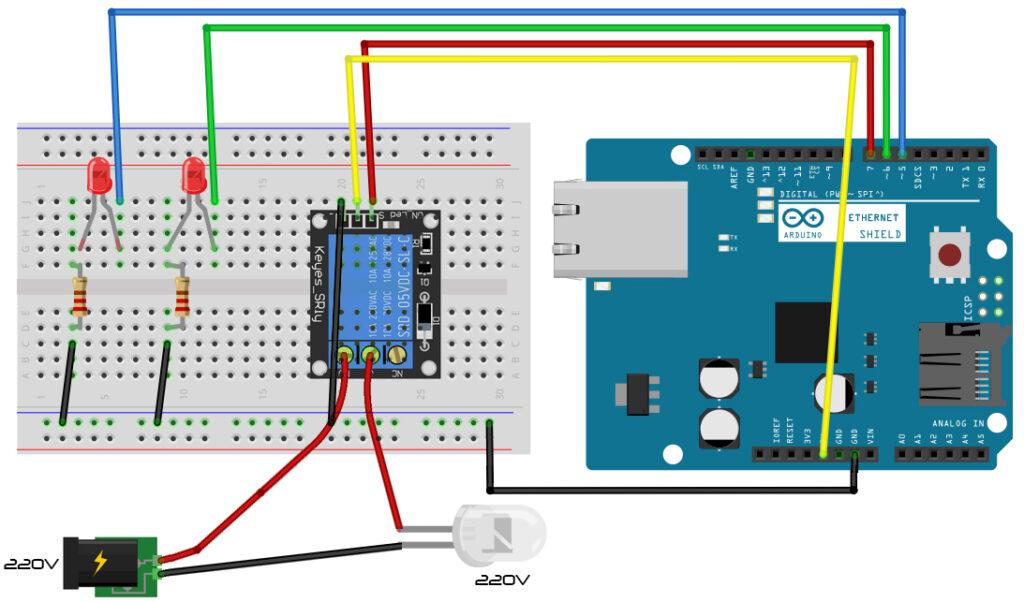 Sterowanie oświetleniem domu za pomocą Arduino